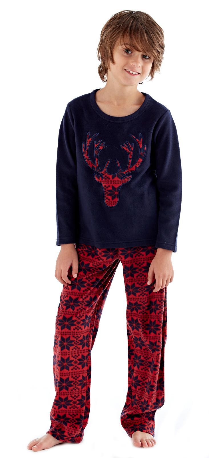 Boys Fleece Pyjamas Mini Me Lounge Set Soft Twosie Pjs Nightwear Xmas Gift  Size   eBay