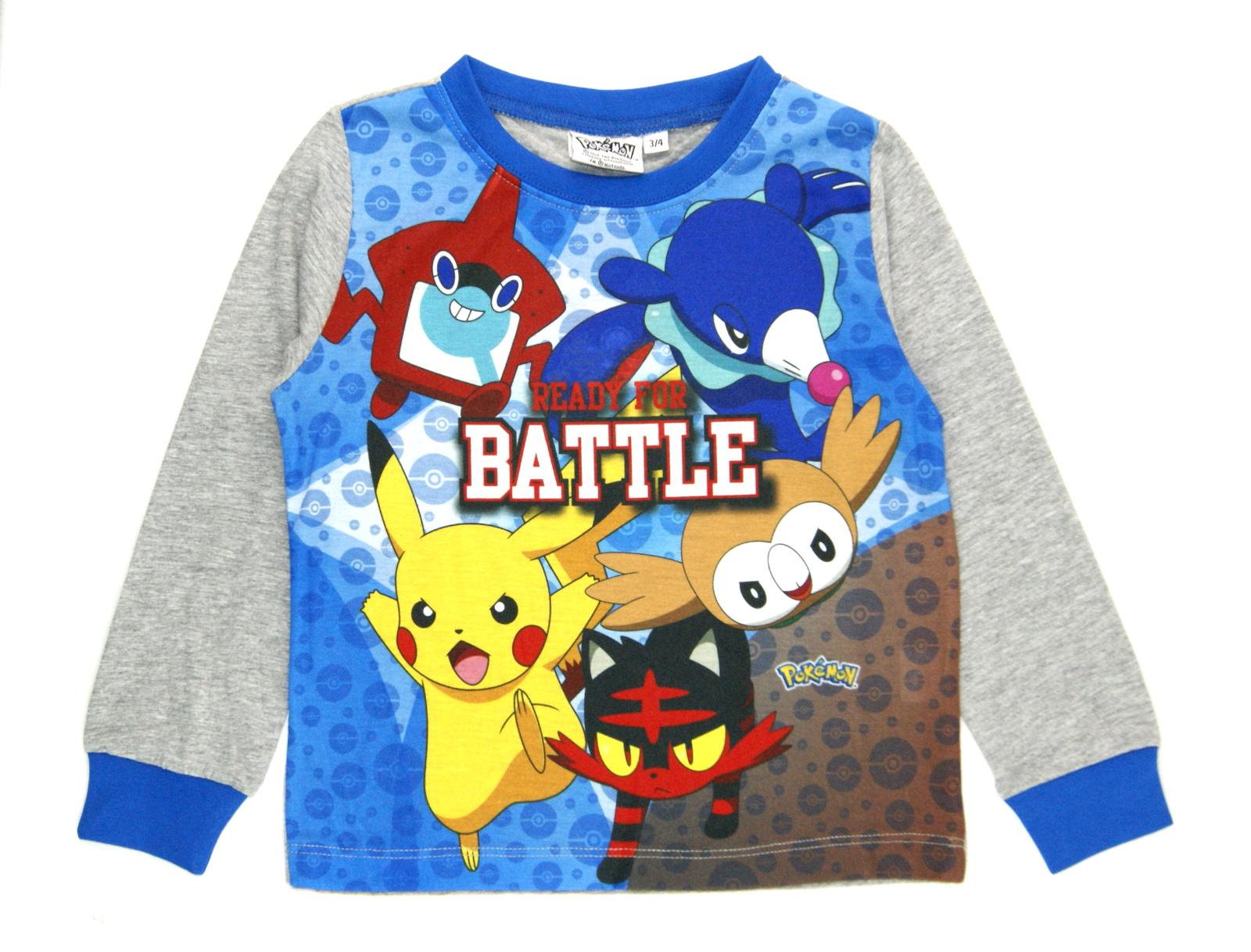 6d035a44fe Boys Pokemon Go Pyjamas Full Length Pikachu Pjs 2 Piece Pyjama Set ...