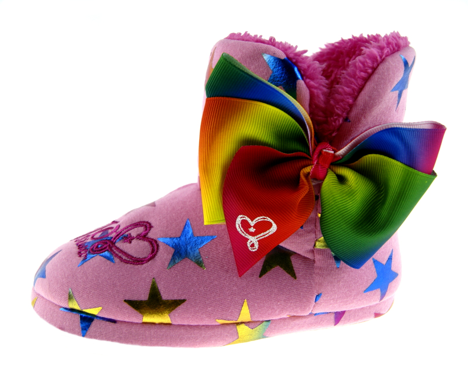 e1fe6a78cd95 Jojo Siwa Slippers Bow Ankle Booties Novelty Plush Cushioned Fleece Lined  Gift