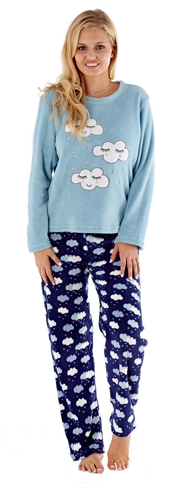 8f3c9a94ac Womens Twosie Nightwear Lounge Pants Jumper Lounge Set Pjs Fleece ...