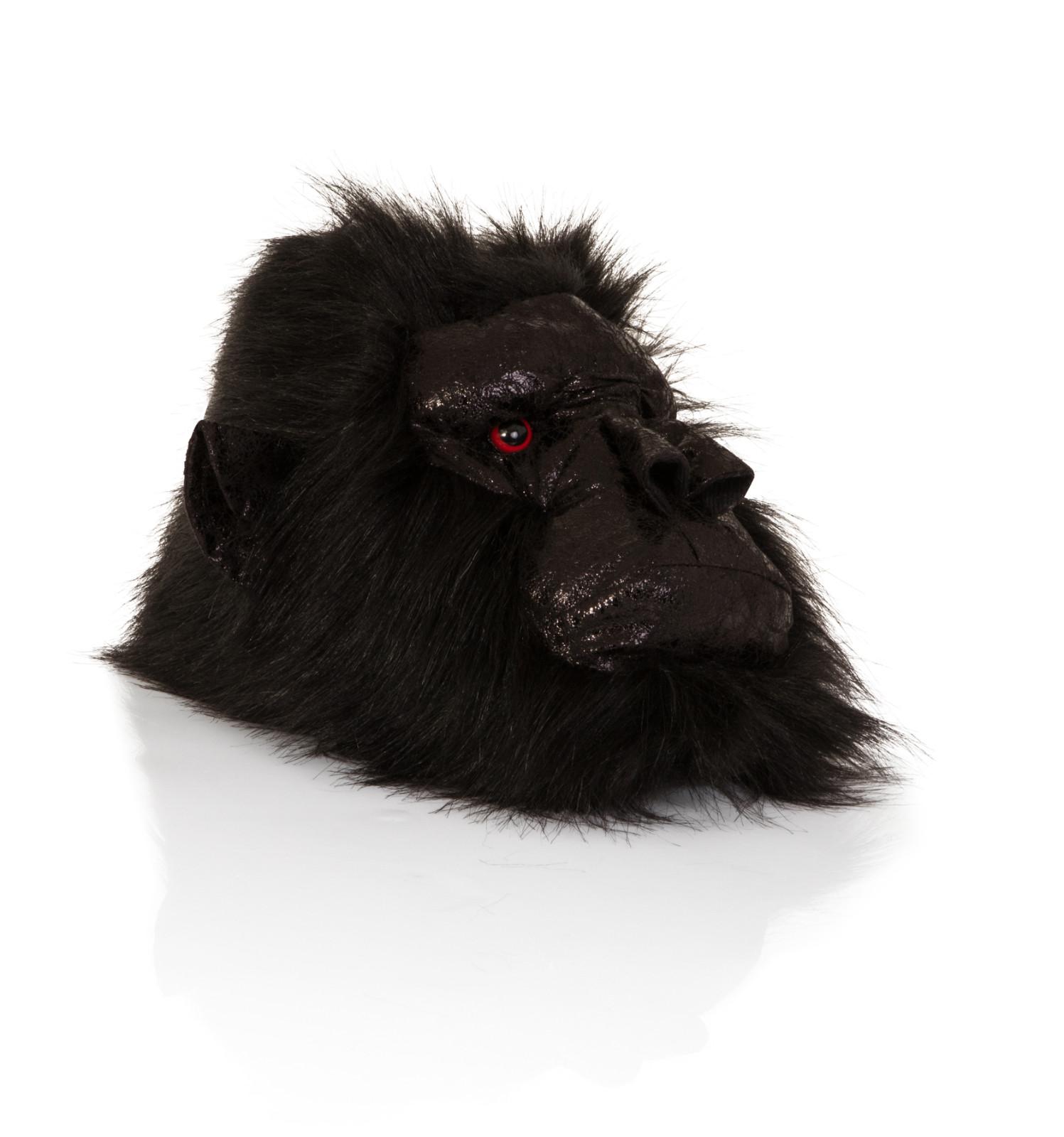 Mens Animal Novelty Gorilla Mule Slipper