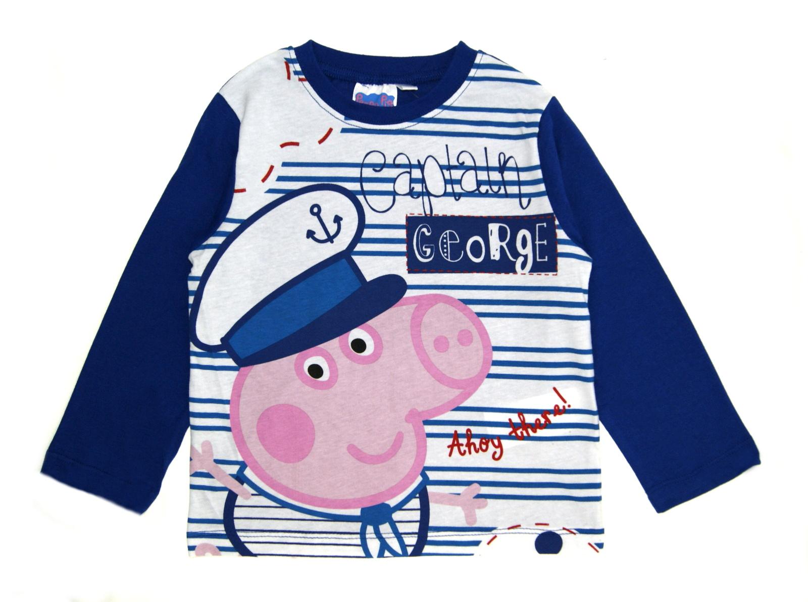 ff870fc839 Boys Peppa Pig George Pyjamas 100% Cotton Full Length Pjs Character ...