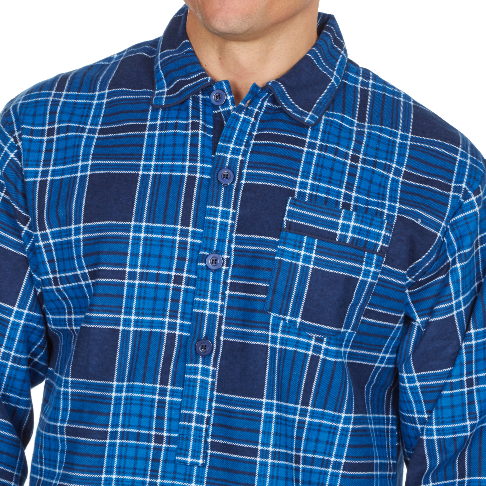 Mens Night Shirt Traditional Striped Nightshirt Brushed Cotton Flannel Warm