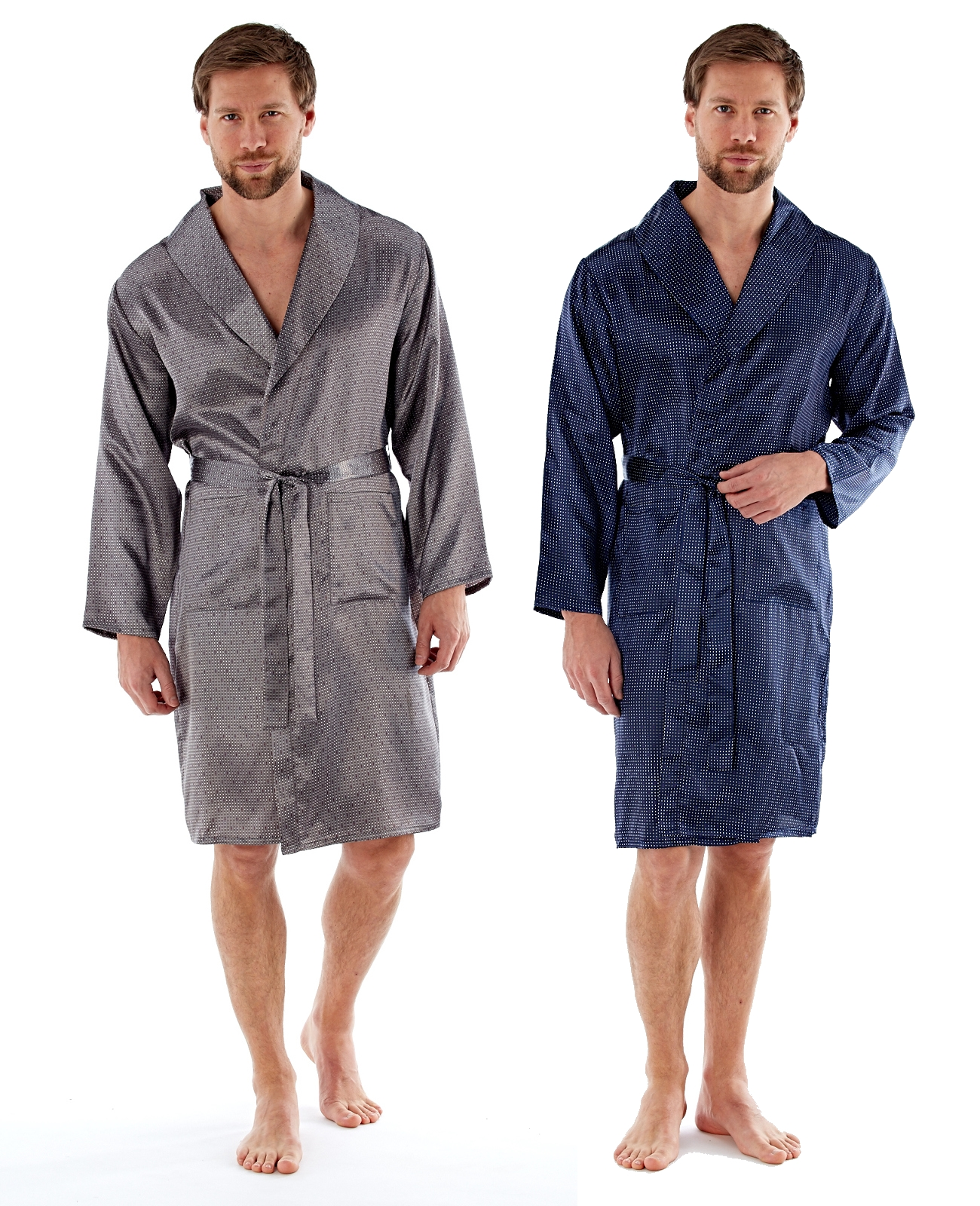 hot-selling newest outlet on sale 50% off Details about Mens Luxury Satin Robe Silky Dressing Gown Kimono Wrap  Nightwear Gift Size