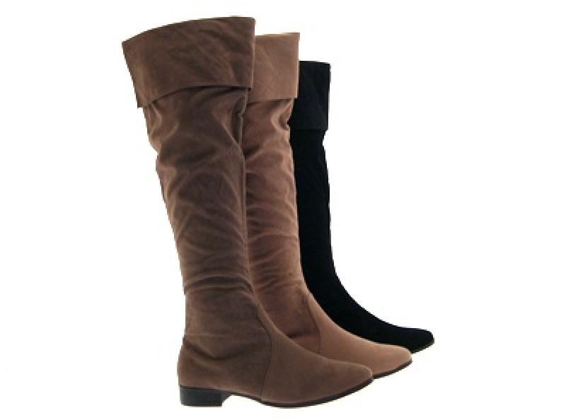 Womens Faux Suede Thigh High Boots