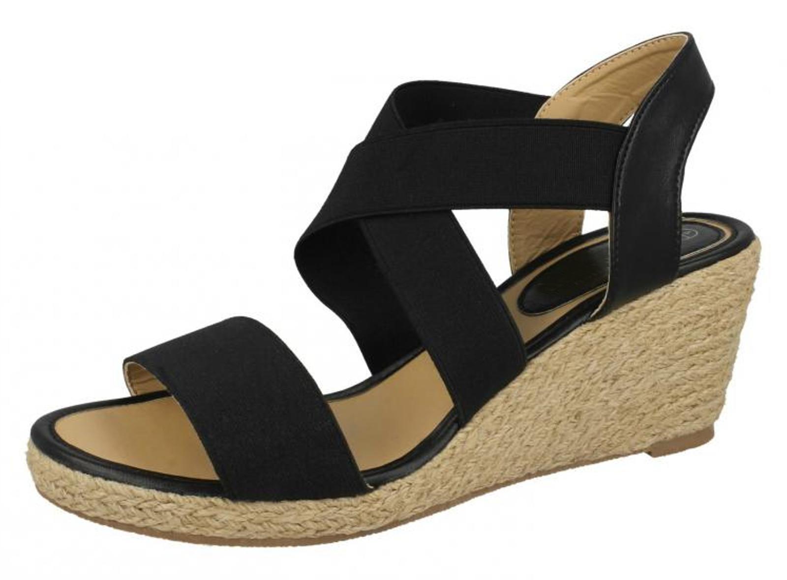 Womens Wedge Sandals Stretch Elastic