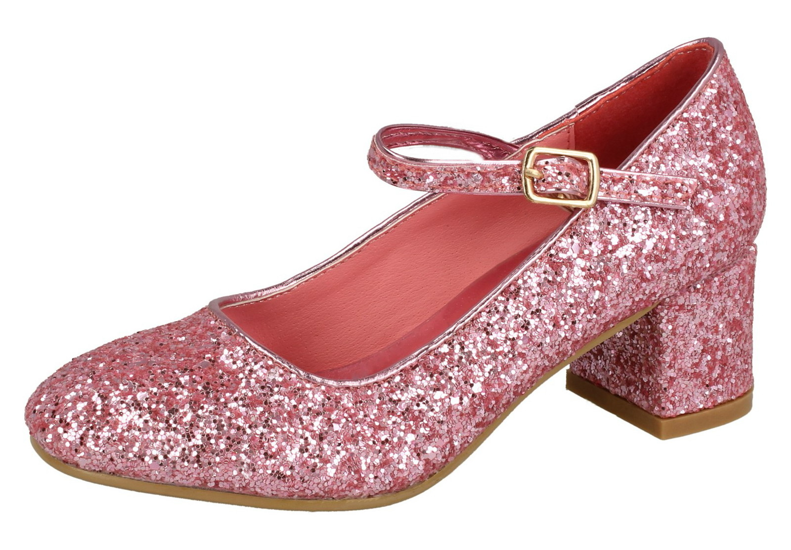 010cc169ec39 Girls Faux Leather Low Block Heel Party Shoes Mary Jane Kids Wedding ...