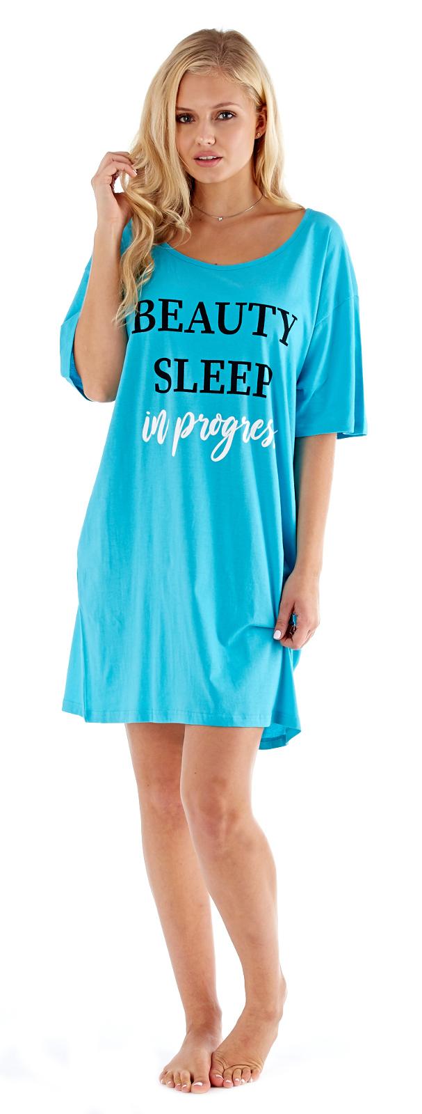 LADIES//WOMENS FUN PRINT//SLOGAN NIGHT SHIRT NIGHTDRESS NIGHTIE NIGHTSHIRT