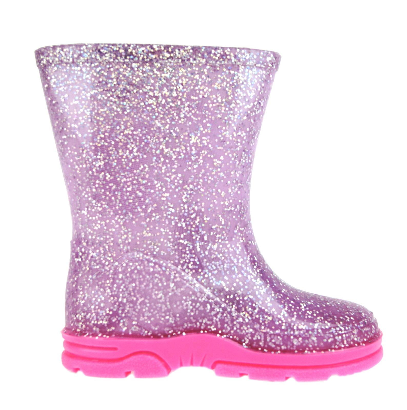 Girls-Peppa-Pig-Wellington-Boots-Mid-Calf-Gitter-Snow-Rain-Wellies-Kids-Size Indexbild 16