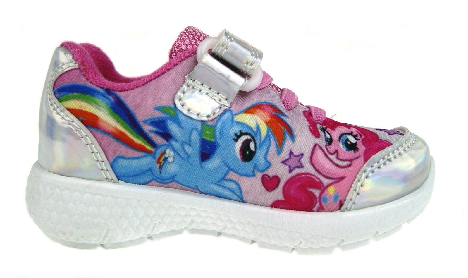 Girls Kids Slip On Childrens Glittery Trainers Sports Pump Flat Running Shoes UK