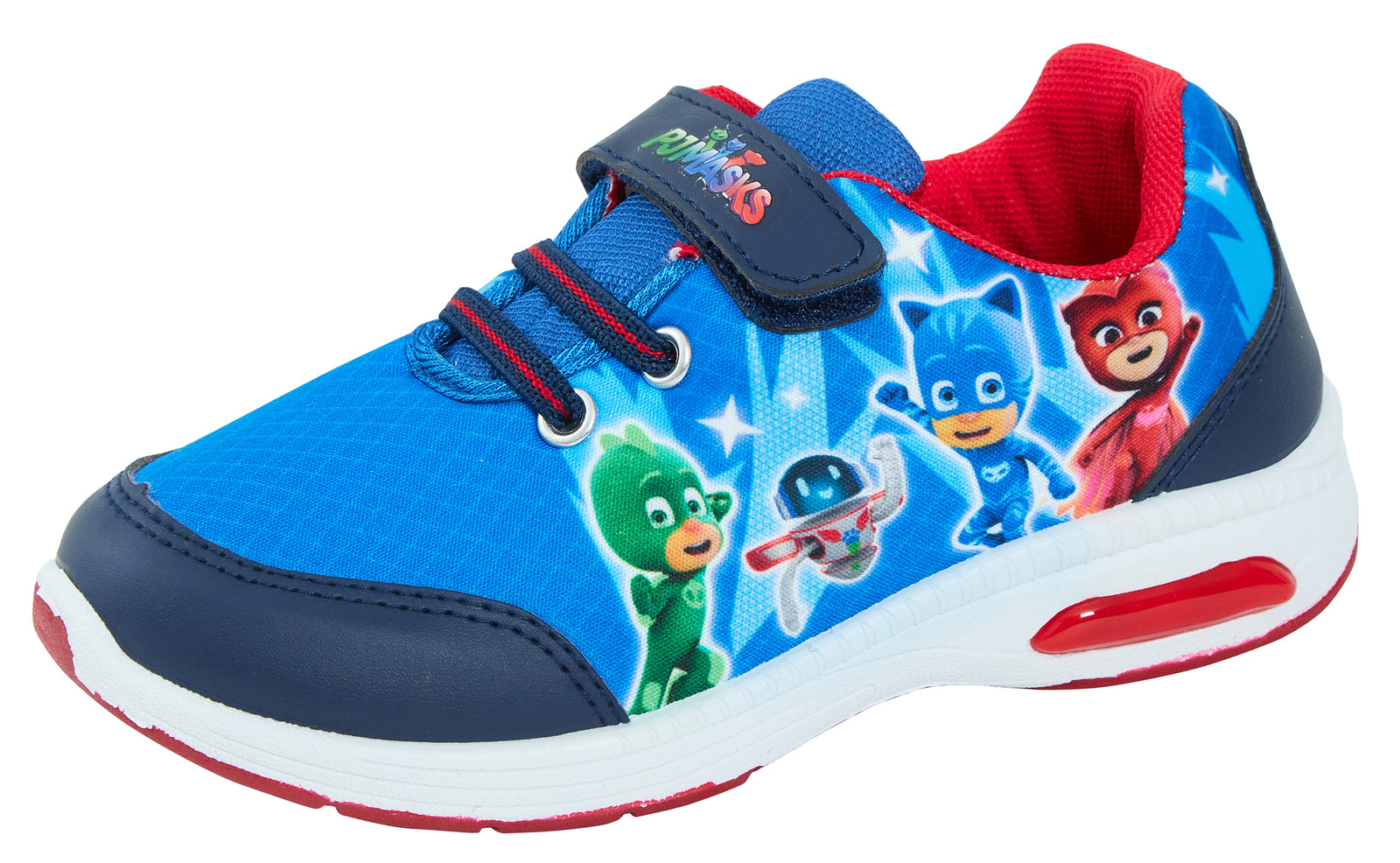 Boys P J Masks Blue Soft Touch  Casual Trainers Sports Shoes Sizes 6-11.5 Child