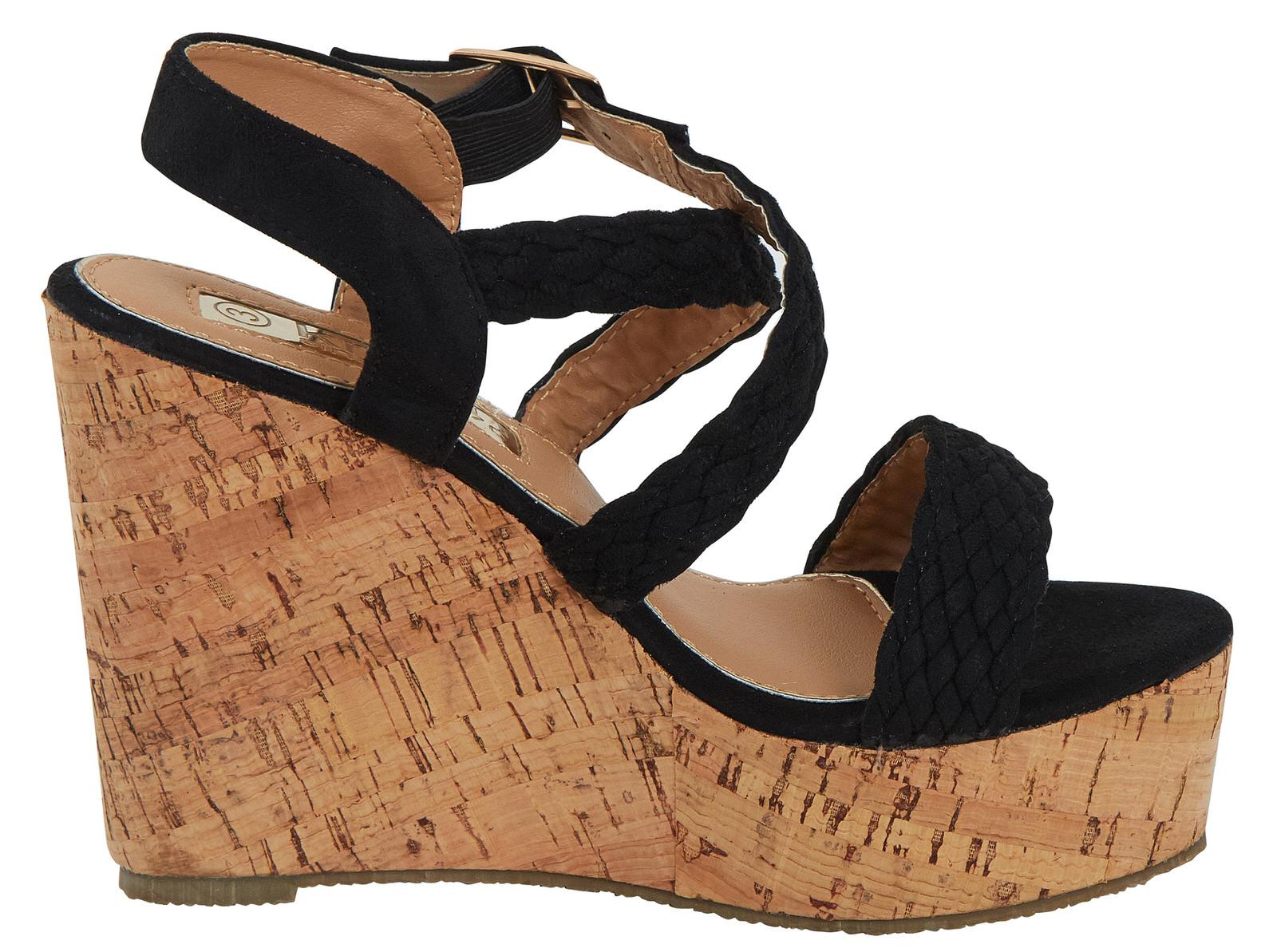 b6c74c9b63e Details about Womens Espadrille Cork Wedges Crossover Strappy Heels  Platforms Sandals Size