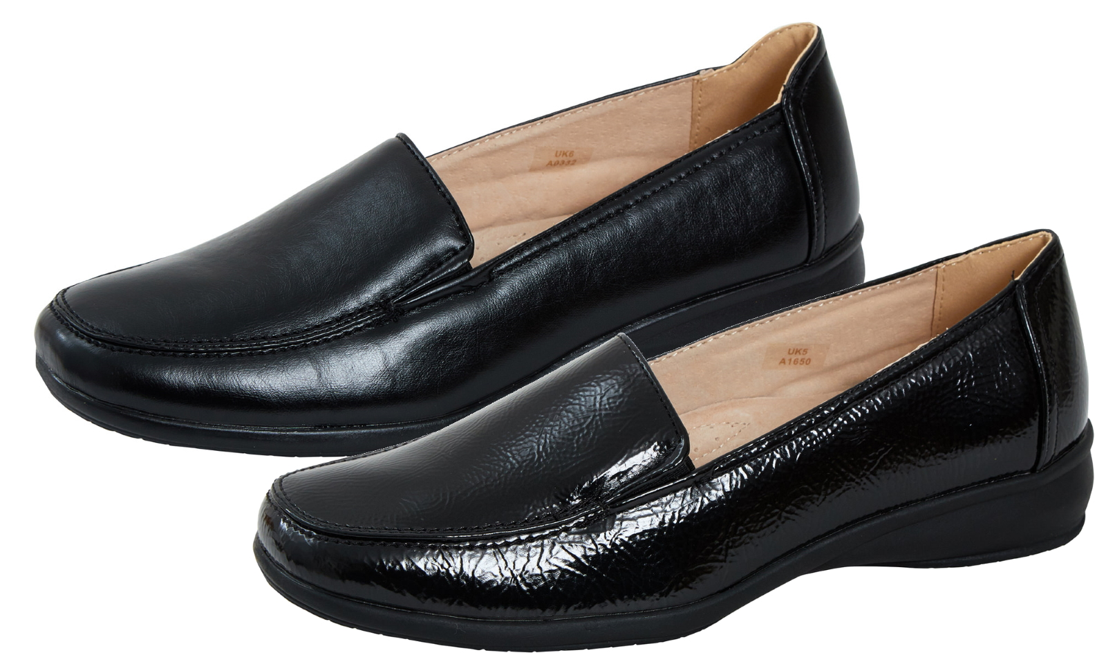 Shoes Ladies Leather Lined Flexible PU