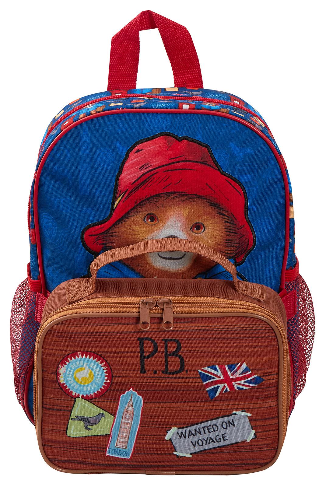miniatuur 13 - Paddington Bear Kids Backpack + Detachable Lunch Bag/Pencil Case Nursery School