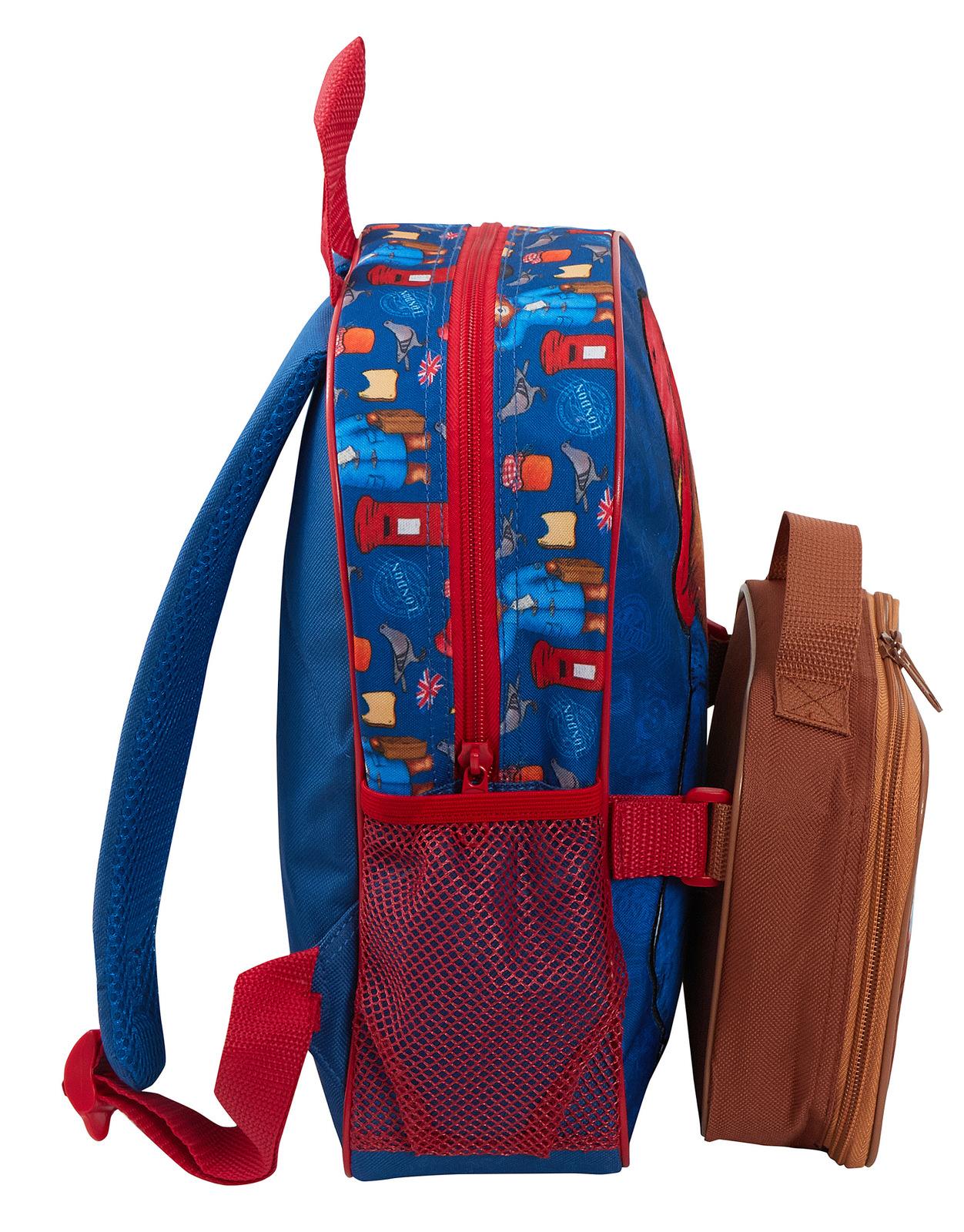 miniatuur 16 - Paddington Bear Kids Backpack + Detachable Lunch Bag/Pencil Case Nursery School