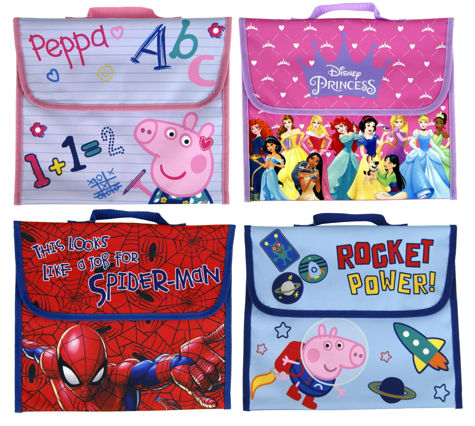 Kids Character Primary School Book Bag Girls /& Boys Back to School Satchel