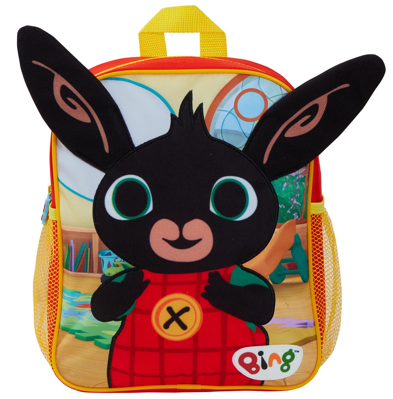 miniatuur 11 - Kids Bing Bunny 3D Plush Backpack Boys Girls Nursery School Rucksack Lunch Bag