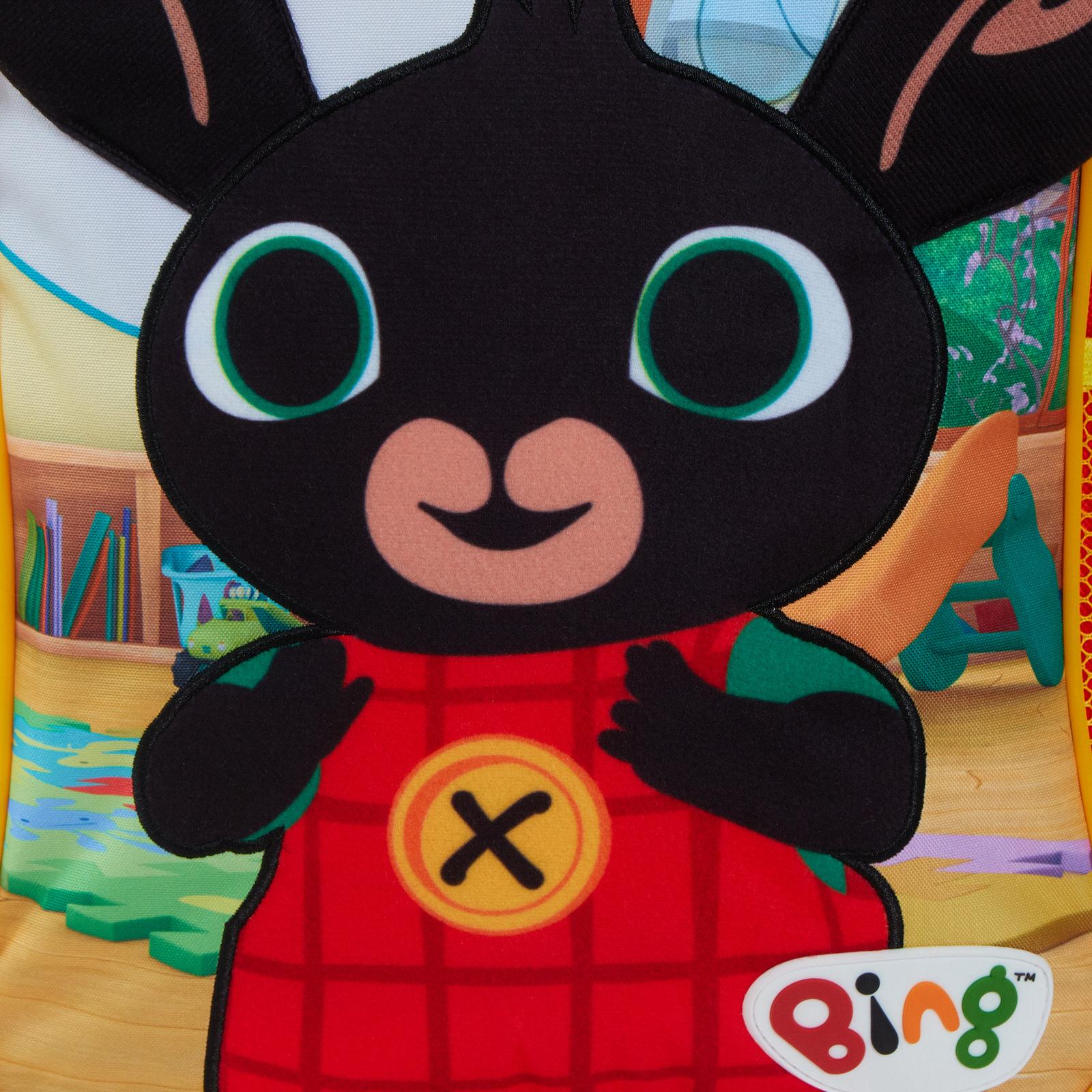 miniatuur 12 - Kids Bing Bunny 3D Plush Backpack Boys Girls Nursery School Rucksack Lunch Bag
