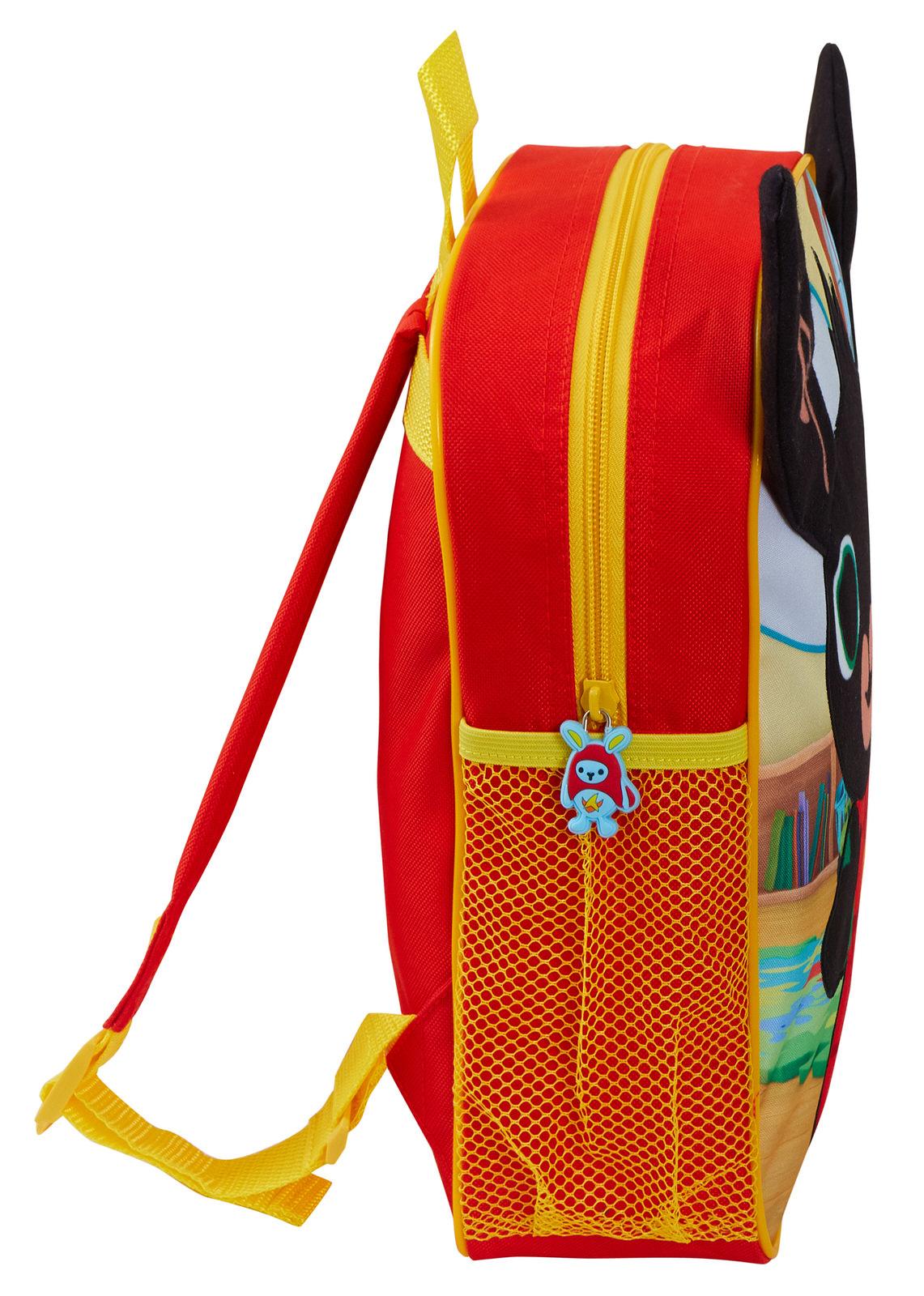 miniatuur 8 - Kids Bing Bunny 3D Plush Backpack Boys Girls Nursery School Rucksack Lunch Bag