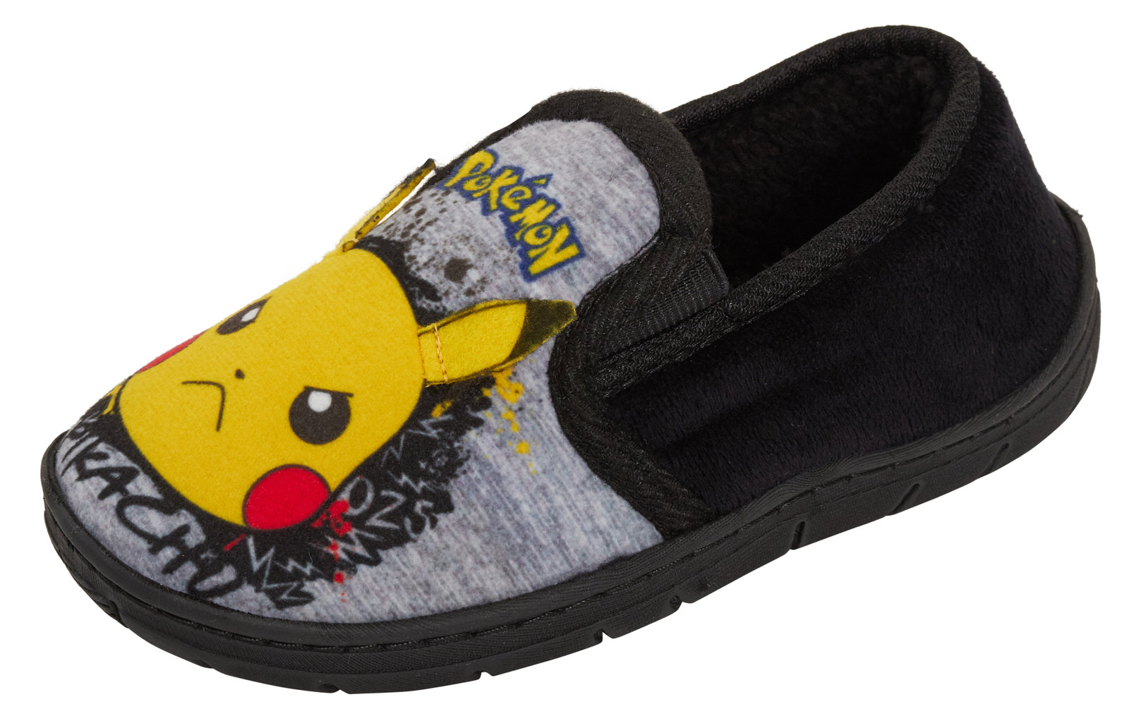 Face Kid's Grey Marl Loafer Slippers