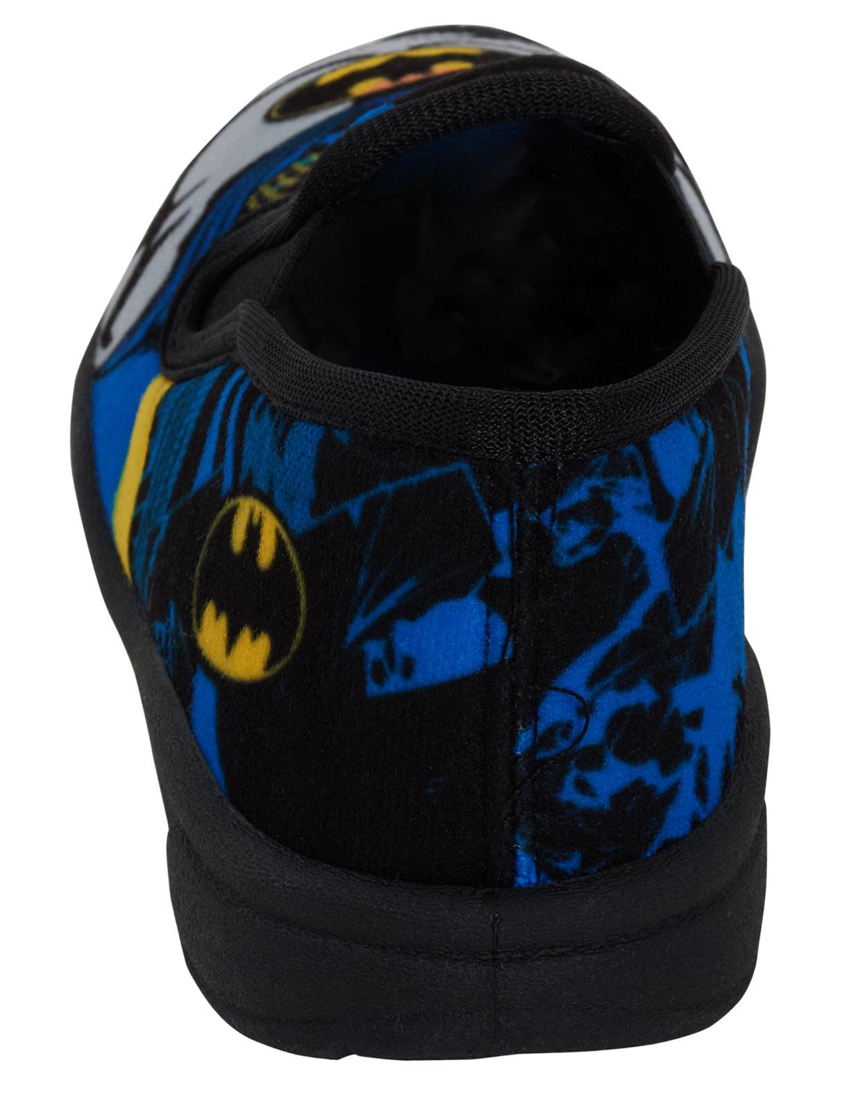 Batman Logo Slippers Kids DC Comics Superhero Mules House Shoes Boys Girls Size