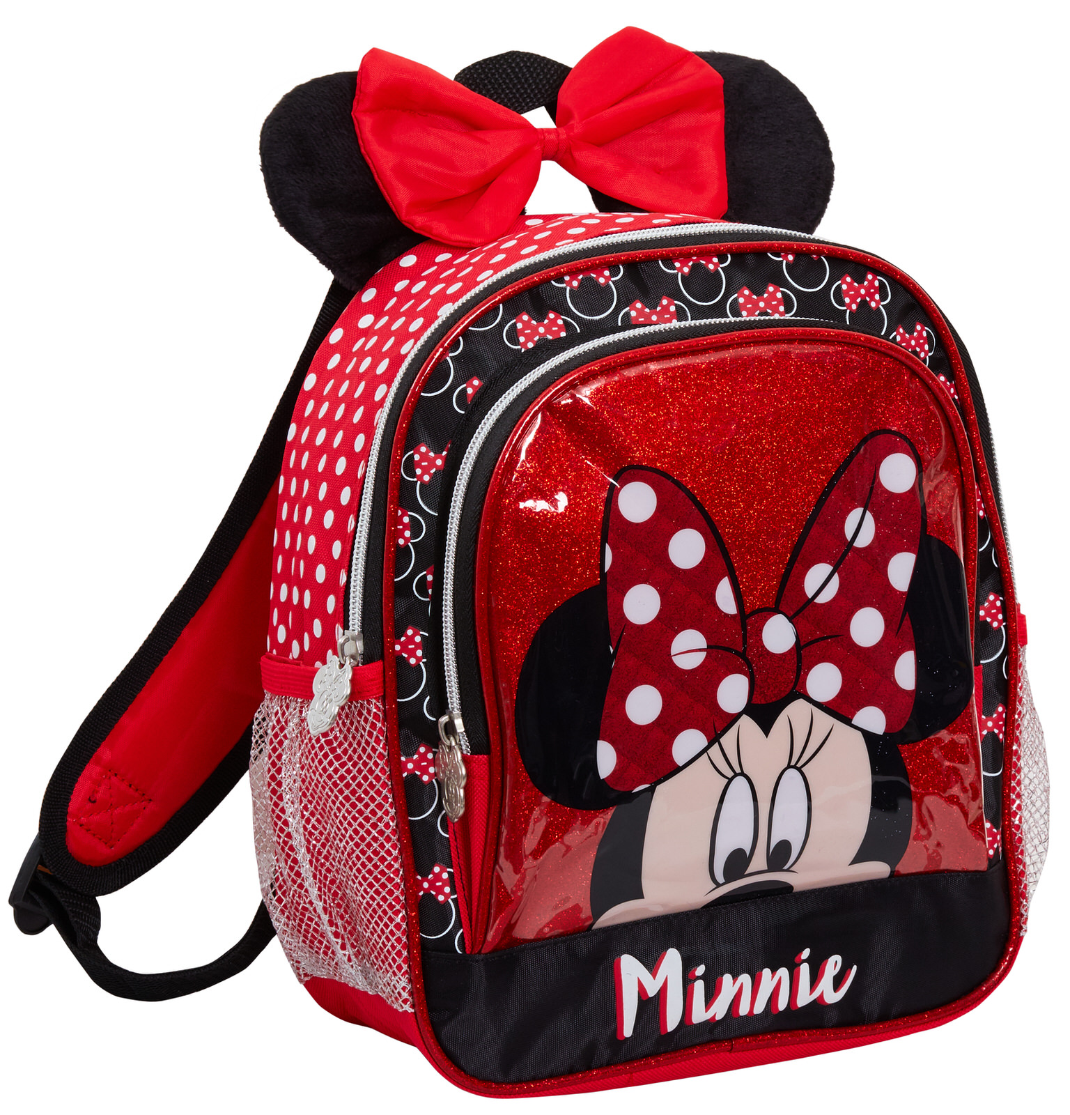 Details about Disney Minnie Mouse Plush 3D Ears Bow Backpack Girls School Rucksack Lunch Bag