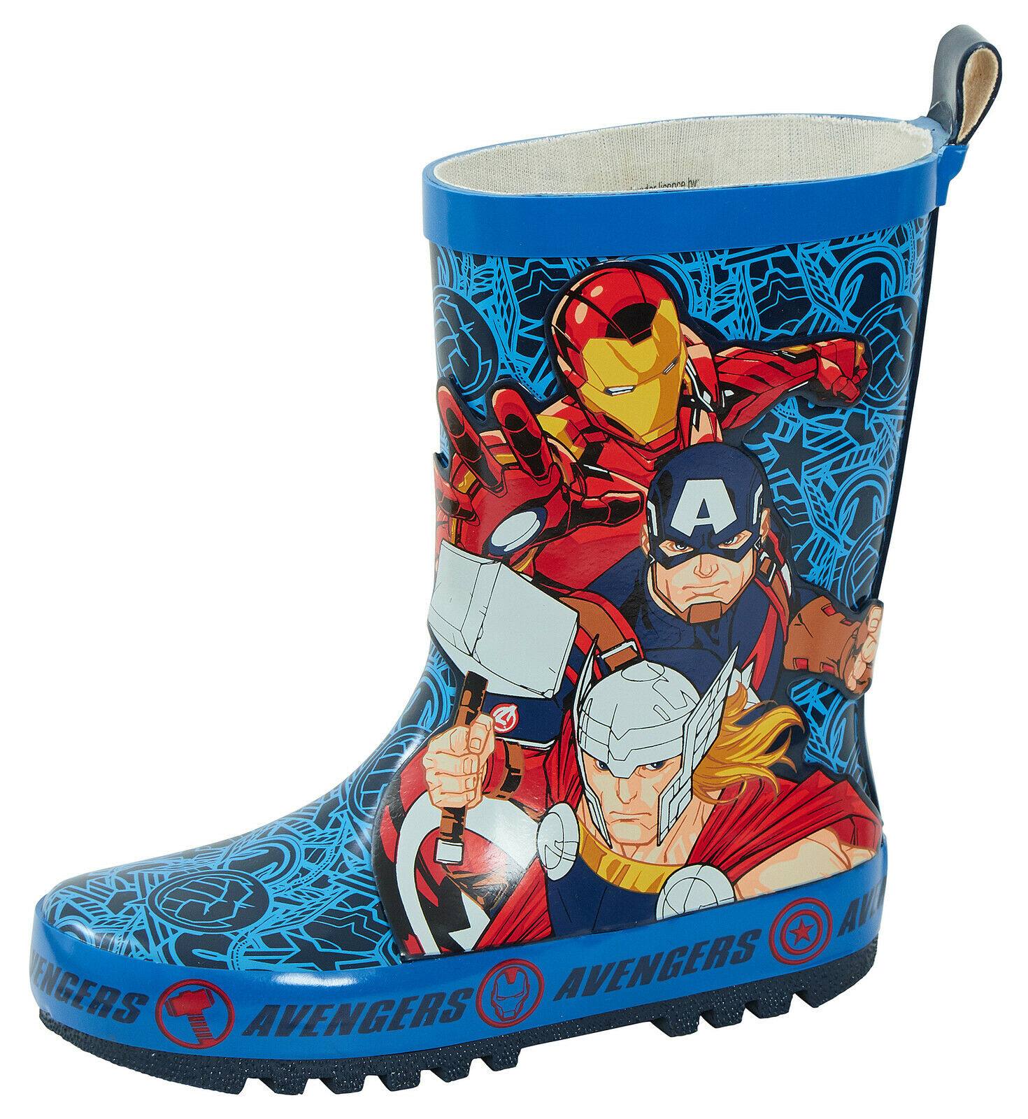 Boys Avengers Winter Wellies Shoes Boots Red Toddler Children Size UK 7-1