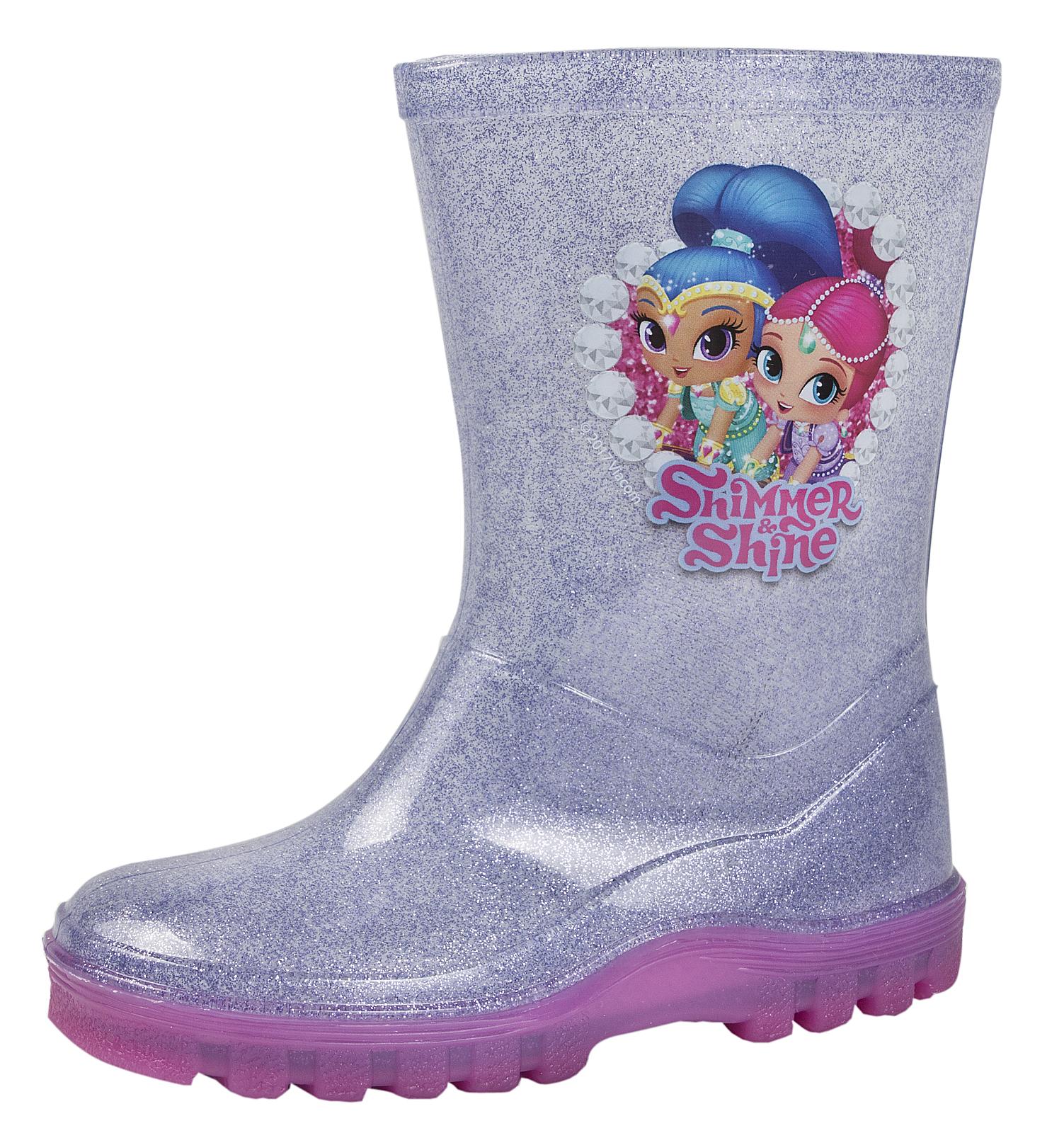 Shimmer /& Shine Girls Wellington Rain Boots Wellys