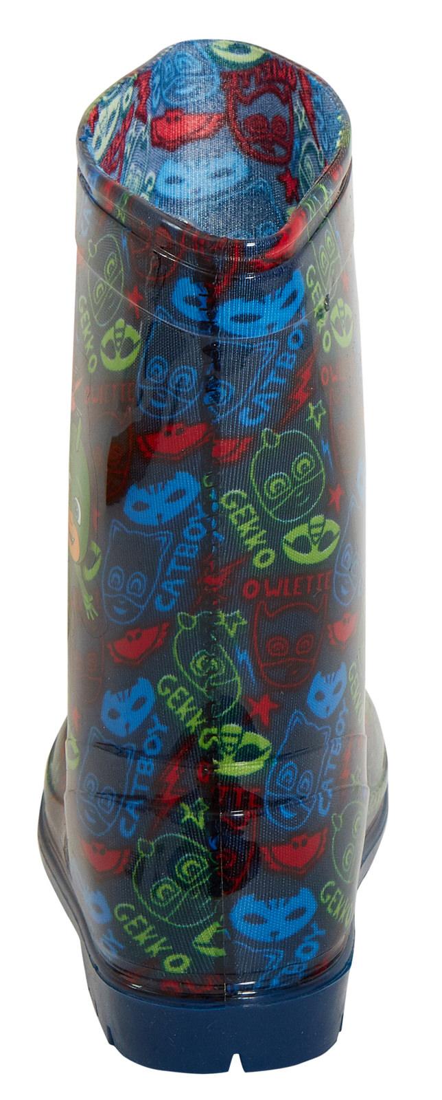 Garçons Officiel PJ Masques Character Bottes Bottes de pluie WELLYS Wellington Taille 5-10