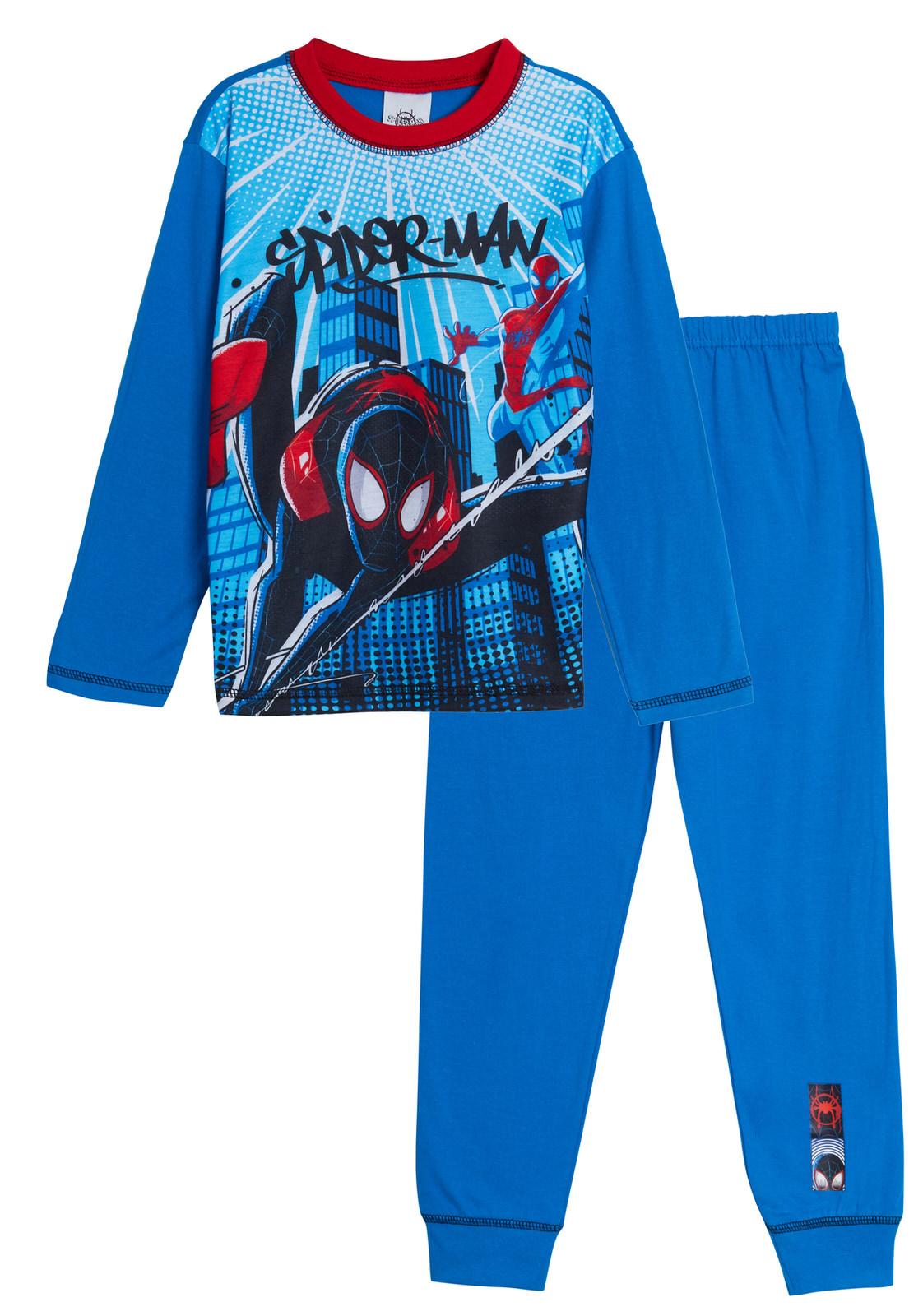 Kids Boys Pyjamas Spiderman Pyjama Set 2 Piece Pjs Long Size