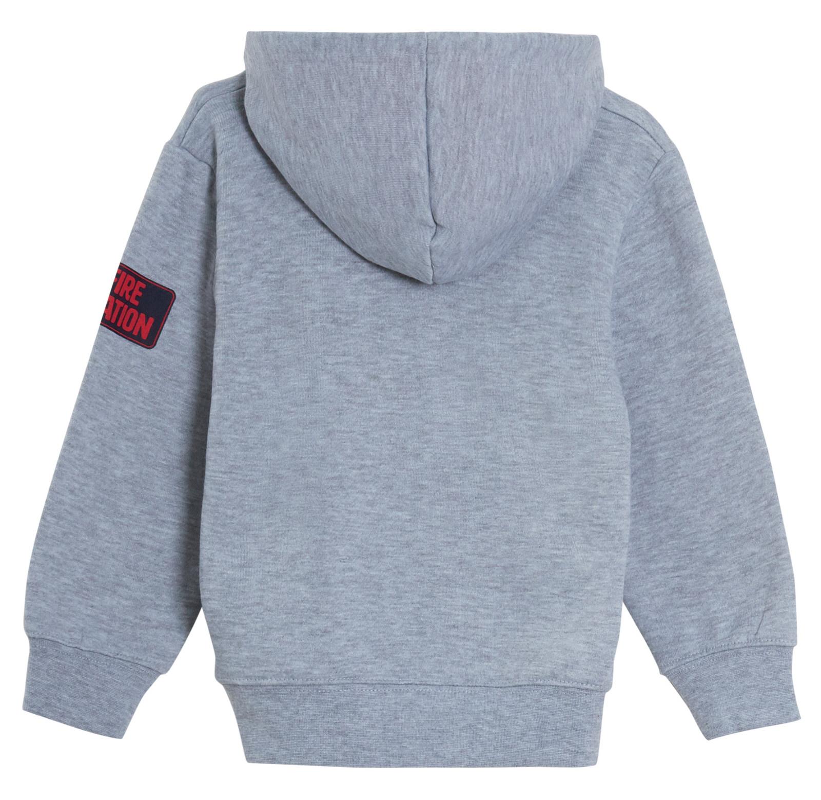 Fireman Sam Boys Hooded Jacket Kids Fleece Hoodie Jumper Sweatshirt with Novelty Lift Up Badge