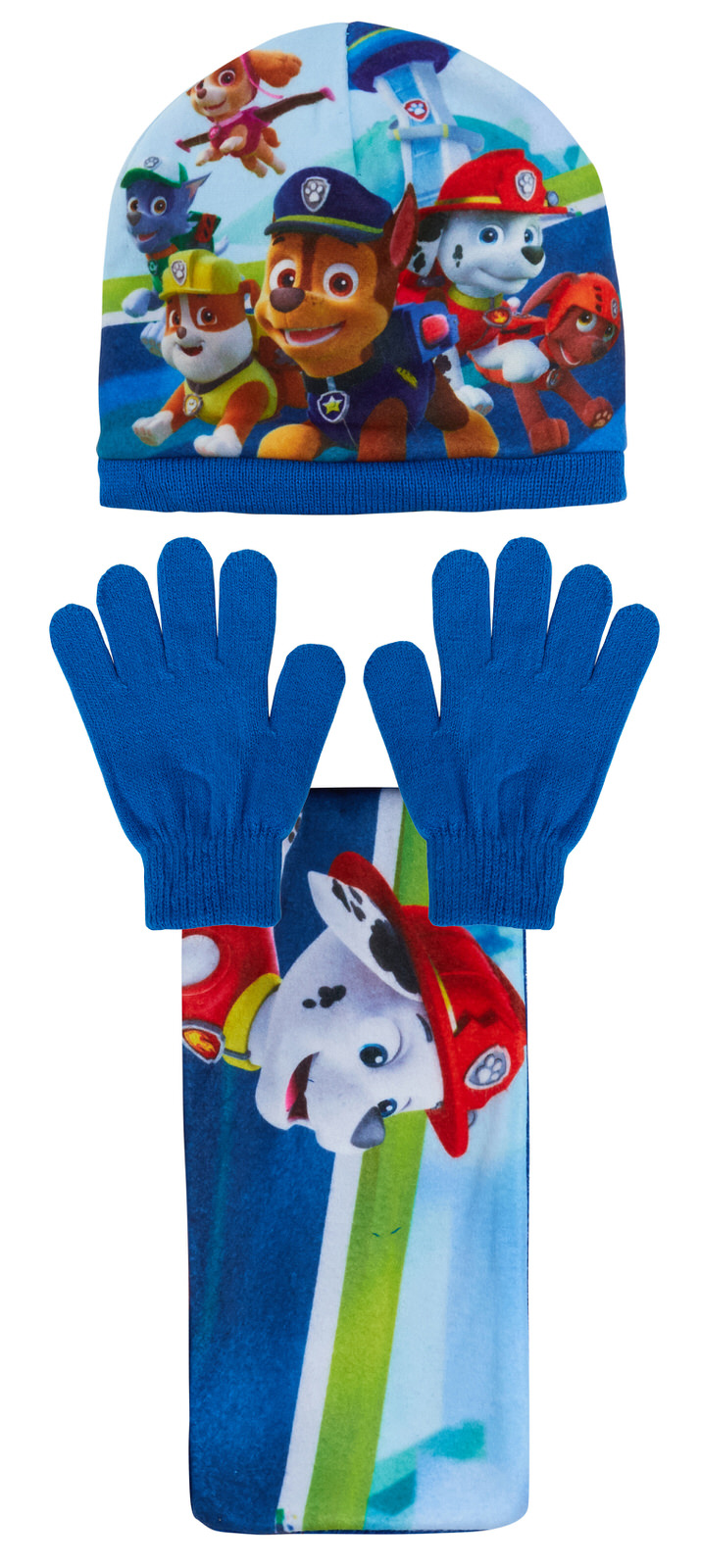 Gloves 3 piece Knitted Winter Set Kids Xmas Gift Paw Patrol Woolly Hat Scarf