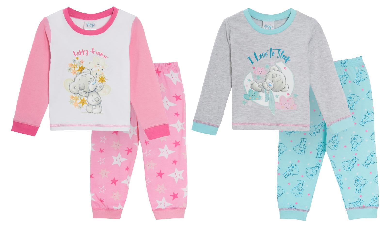 Baby Girls Tatty Teddy Pyjamas Toddlers Pjs Me To You Footless Nghtwear Gift Set