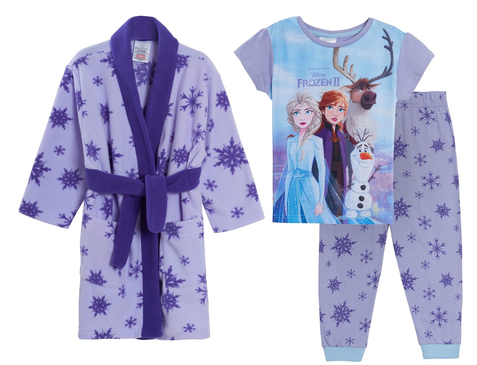 Girls Disney Frozen 2 Pyjamas Bath Robe Matching Set Kids Nightwear Pjs Gown Ebay