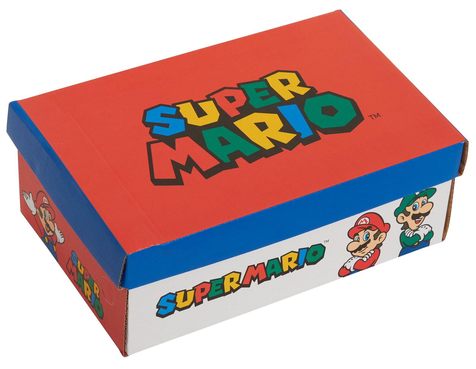 miniatuur 9 - Boys Super Mario Brothers Light Up Trainers Kids Nintendo Flashing Lights Shoes
