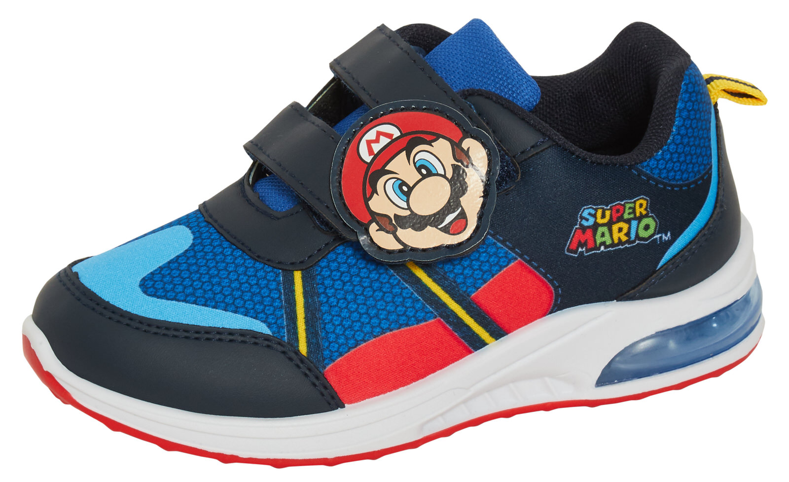 miniatuur 11 - Boys Super Mario Brothers Light Up Trainers Kids Nintendo Flashing Lights Shoes