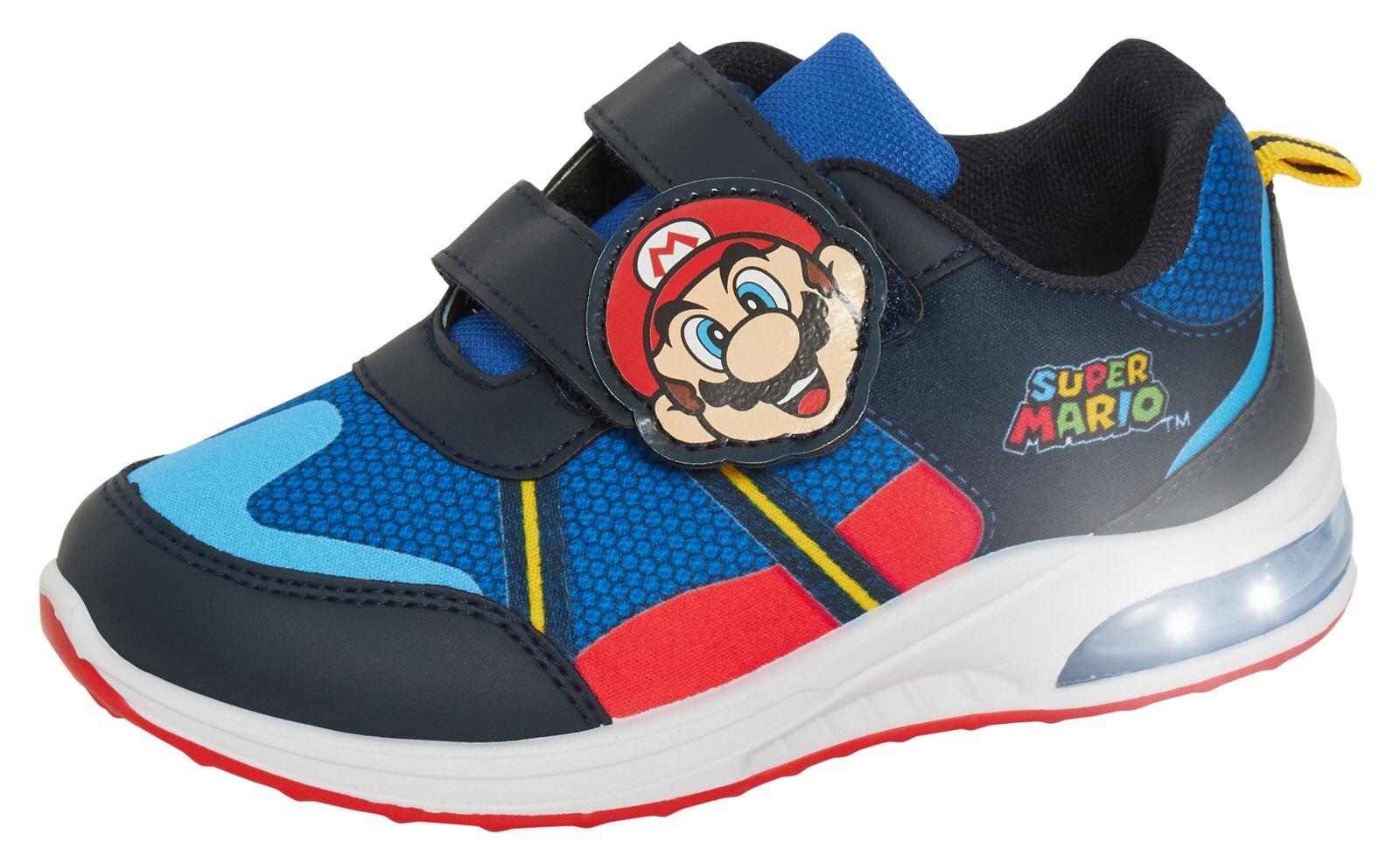 miniatuur 10 - Boys Super Mario Brothers Light Up Trainers Kids Nintendo Flashing Lights Shoes