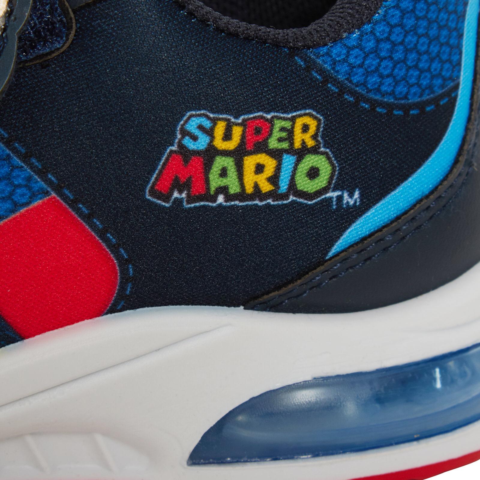 miniatuur 12 - Boys Super Mario Brothers Light Up Trainers Kids Nintendo Flashing Lights Shoes