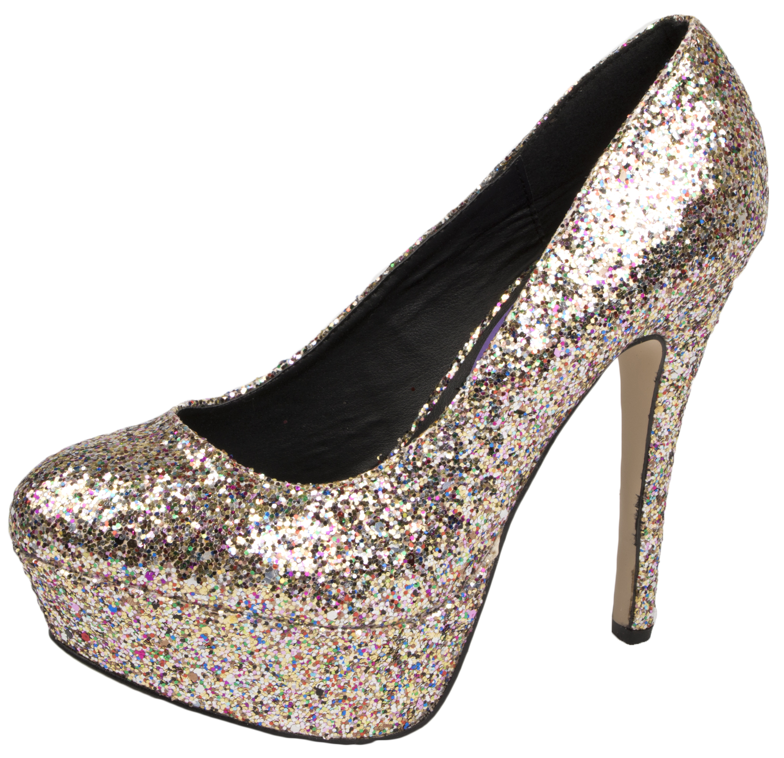 d9f663e1dc6 Womens Glitter High Heels Stiletto Party Shoes Platforms Court Shoes ...