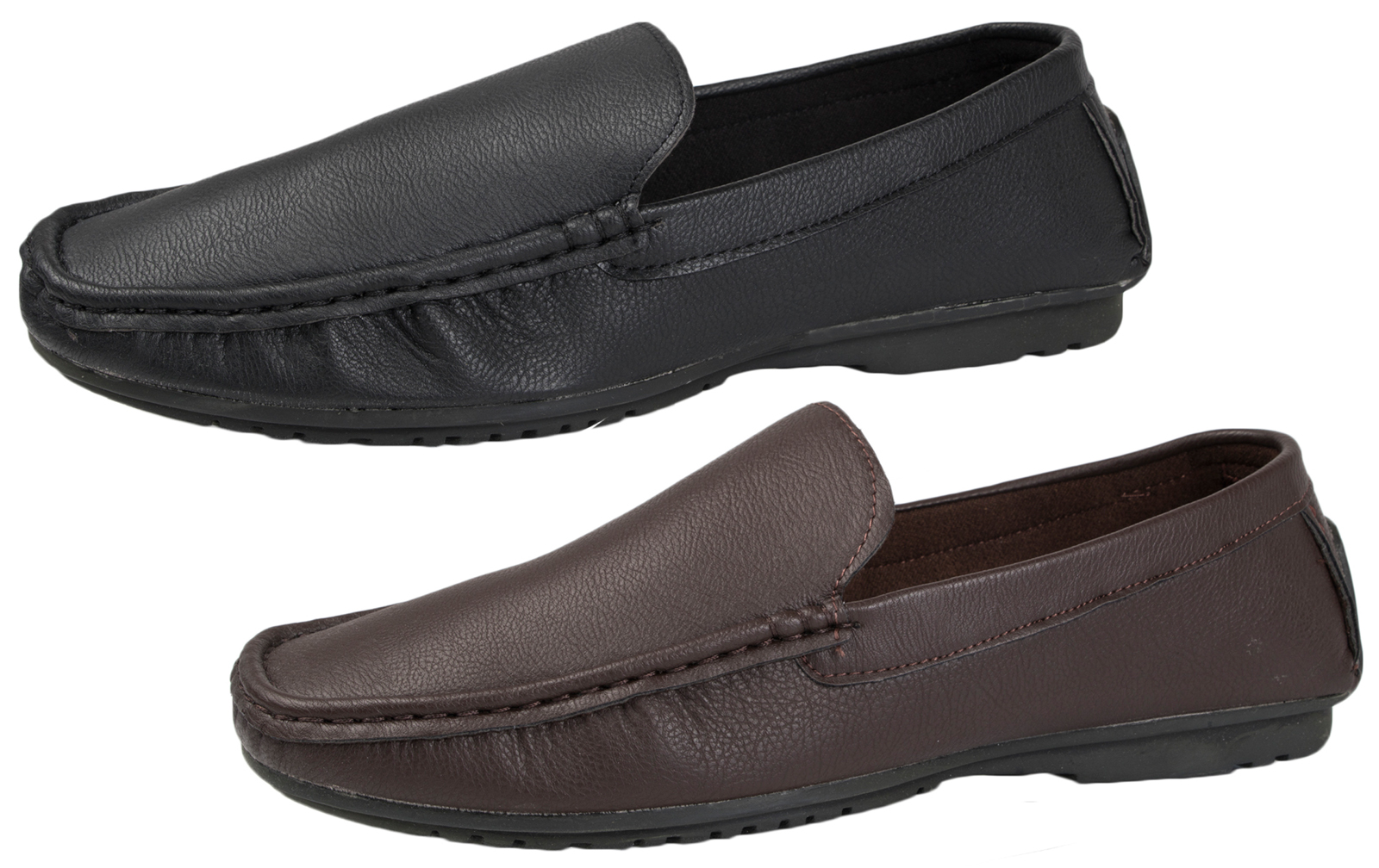 3fc30e10dc4 NEW MENS COMFORT LEATHER LINED MOCCASINS MULES FLEXIBLE SOLE SHOES SLIP ONS  6-11