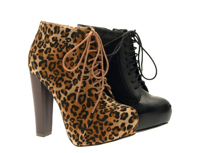 Womens-Platform-Ankle-Boots-Wooden-Block-High-Heels-Lace-Up-Ladies-Shoes-Size miniatuur 16