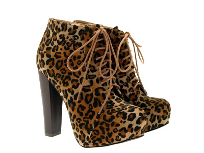 Womens-Platform-Ankle-Boots-Wooden-Block-High-Heels-Lace-Up-Ladies-Shoes-Size miniatuur 29