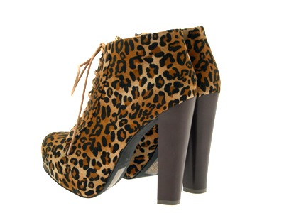 Womens-Platform-Ankle-Boots-Wooden-Block-High-Heels-Lace-Up-Ladies-Shoes-Size miniatuur 30