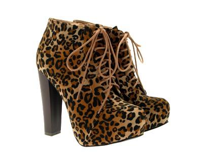 Womens-Platform-Ankle-Boots-Wooden-Block-High-Heels-Lace-Up-Ladies-Shoes-Size miniatuur 34