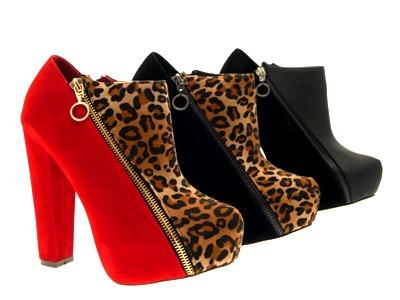 Womens-Platform-Ankle-Boots-Wooden-Block-High-Heels-Lace-Up-Ladies-Shoes-Size miniatuur 26