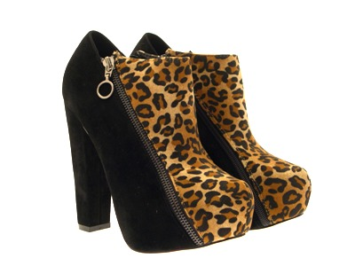 Womens-Platform-Ankle-Boots-Wooden-Block-High-Heels-Lace-Up-Ladies-Shoes-Size miniatuur 24