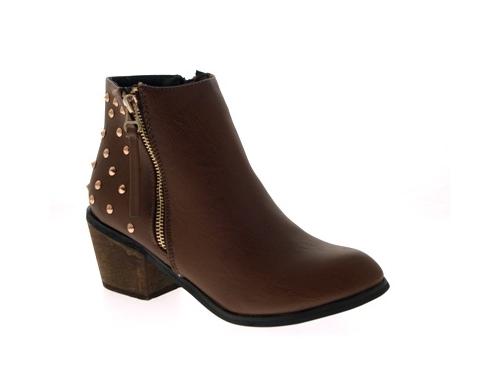 WOMENS-COWBOY-ANKLE-BOOTS-BLOCK-HIGH-HEELS-STUDS-GLITTER-ZIP-LADIES-SHOES-SZ-3-8 miniatuur 76