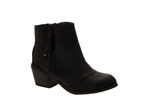 WOMENS-COWBOY-ANKLE-BOOTS-BLOCK-HIGH-HEELS-STUDS-GLITTER-ZIP-LADIES-SHOES-SZ-3-8 miniatuur 43