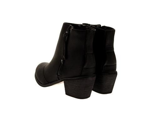 WOMENS-COWBOY-ANKLE-BOOTS-BLOCK-HIGH-HEELS-STUDS-GLITTER-ZIP-LADIES-SHOES-SZ-3-8 miniatuur 48