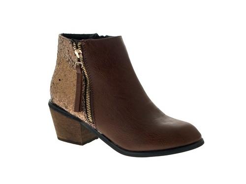 WOMENS-COWBOY-ANKLE-BOOTS-BLOCK-HIGH-HEELS-STUDS-GLITTER-ZIP-LADIES-SHOES-SZ-3-8 miniatuur 28